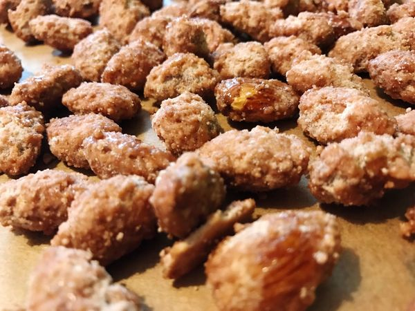 Roasted Almonds Almonds Roasted Food DIY Cooking Food And Drink Freshness Close-up Unhealthy Eating Sweet Food Temptation Abundance Ready-to-eat