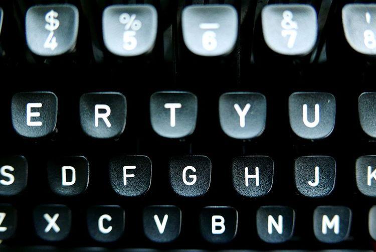 Full frame shot of typewriter keys