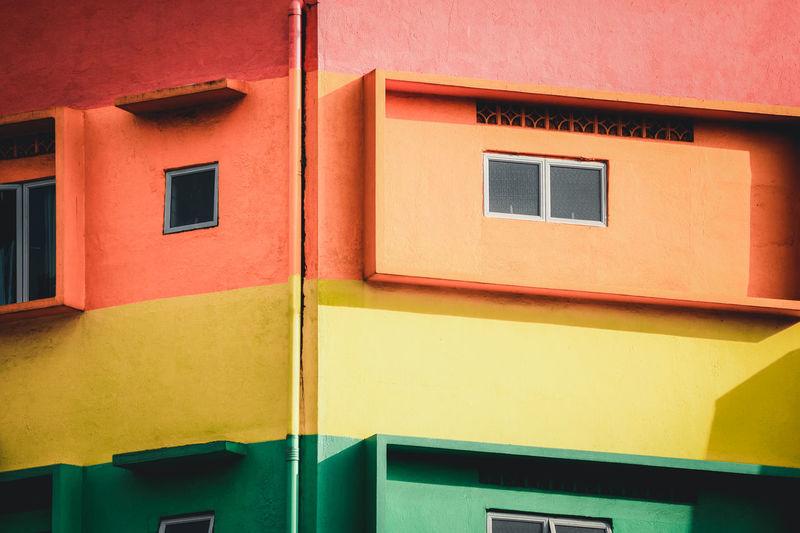 Full frame shot of colorful building