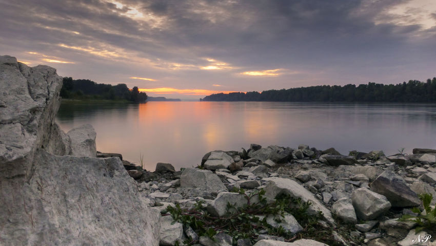 Calm Danube River Mohács River Scenics Standing Water Sunset Water First Eyeem Photo