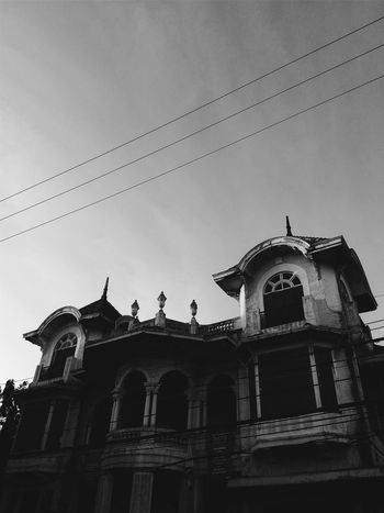Heritage House Architecture Black And White Building Exterior Built Structure Colonial House Cultural Day Heritage Building Historical Building Low Angle View No People Old Buildings Old House Outdoors Sky Spanish House Vintage