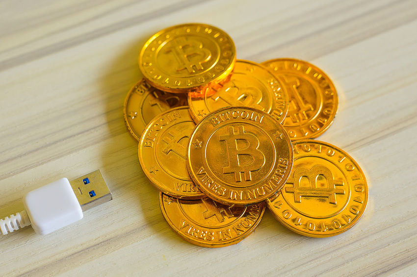 The golden Bitcoins virtual currency coin image idea for such as background Business Gold Money Money Money Bitcoin Business Finance And Industry Coin Concept E-business Exchange Exchangegift Money Payment Trade