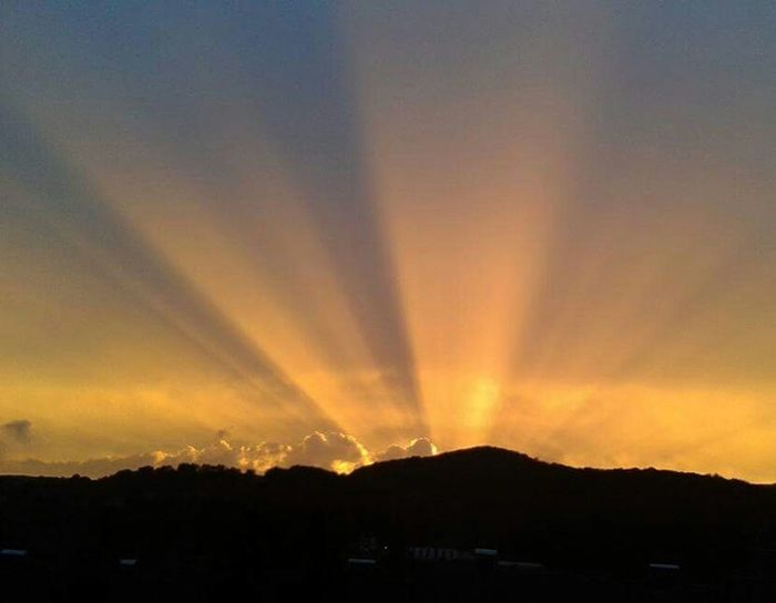 Great Sunset! Hello World Summer Sommer Clouds And Sky Licht Und Schatten Nordhessen Summertime Sonnenuntergang Sunset