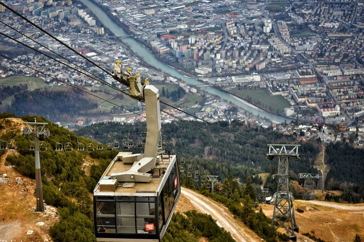 Transportation Aerial View Tree City No People Bridge - Man Made Structure Architecture Outdoors Mountain Range Viewporn View Austrianphotographers Innsbruckmarketing Tyrolean Adventures Innsbruck Winter Landscape Mountain Architecture Cold Temperature High Angle View Beauty In Nature Built Structure Natural Parkland Water Austria Alps