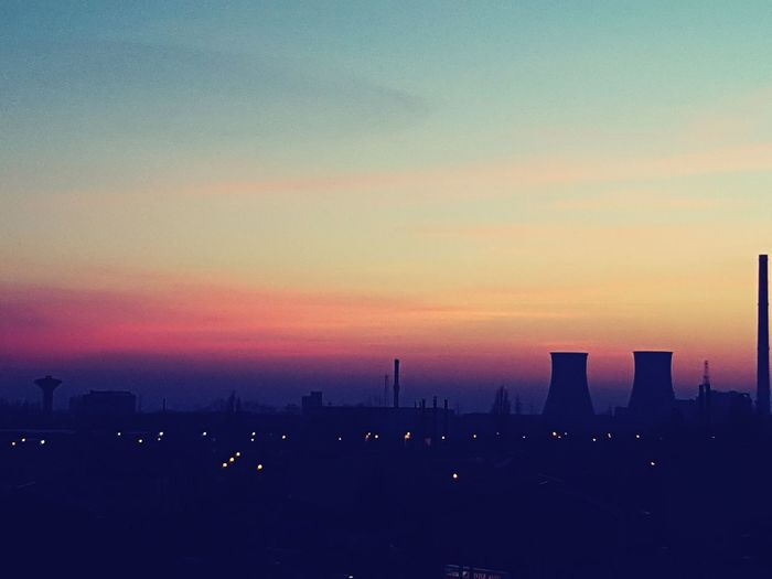 Bucharest Sunset Sunset Social Issues Sky Cityscape No People Outdoors Urban Skyline Modern Nature Beauty In Nature Day First Eyeem Photo