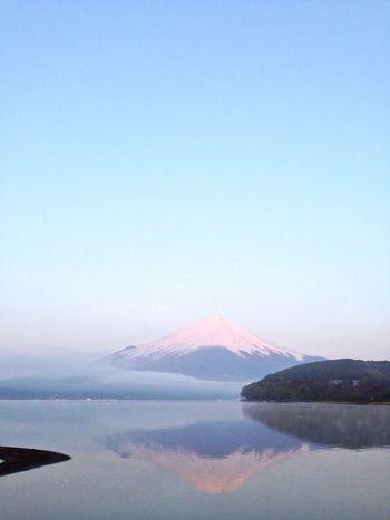 山梨 山中湖 富士山 紅富士