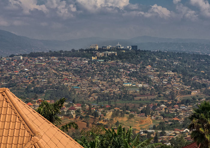 View to Kigali in Rwanda Kigali Rwanda Africa Architecture Beauty In Nature Building Exterior Built Structure City Cityscape Cloud - Sky Day High Angle View Mountain Nature No People Outdoors Roof Sky Tree