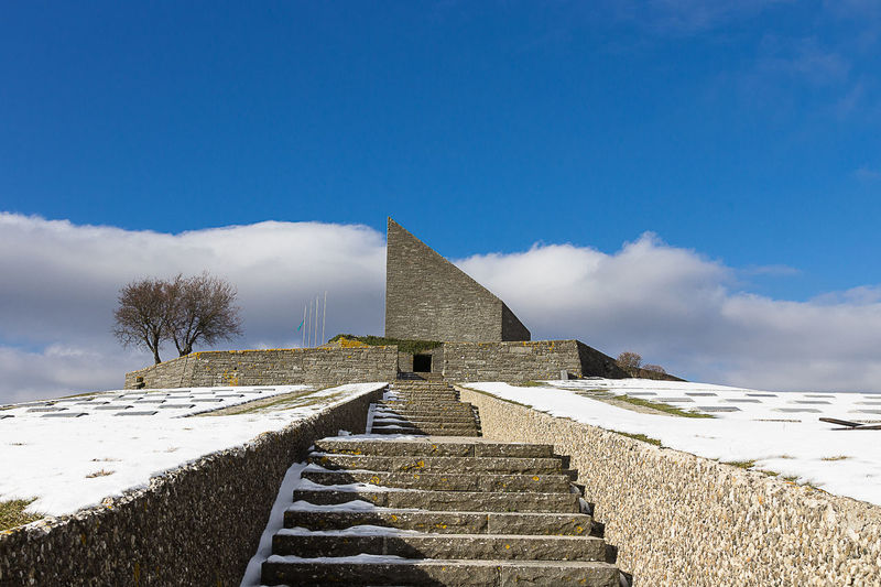 Neve Architecture Building Exterior Built Structure Cimitero Germanico Cloud - Sky History Memoriale Monumento Snow The Past Winter