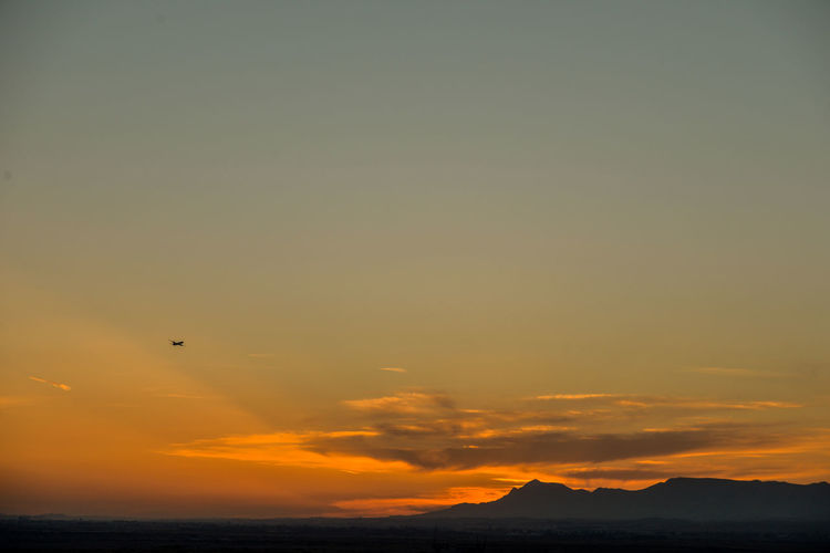 Aviation Beauty In Nature Day Departure Flying Landscape_photography No People Outdoors Sky Sunset Tranquil Scene Perspectives On Nature