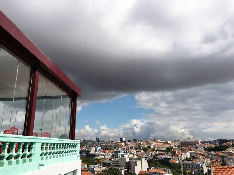 Big Lisbon Cloud - Sky Architecture Built Structure Sky Building Exterior Day Weather No People Cityscape Outdoors Residential Building Nature Storm Cloud City