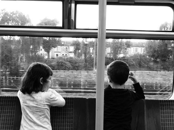 Train Train Child Childhood Two People Real People Window Men Women