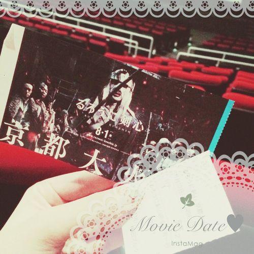 0810★デート♬映画の予定なかったけど、楽しかったし嬉しかったし面白かった(^^)続きも行く約束した♬ るろうに剣心 MOVIE Loveday Happy