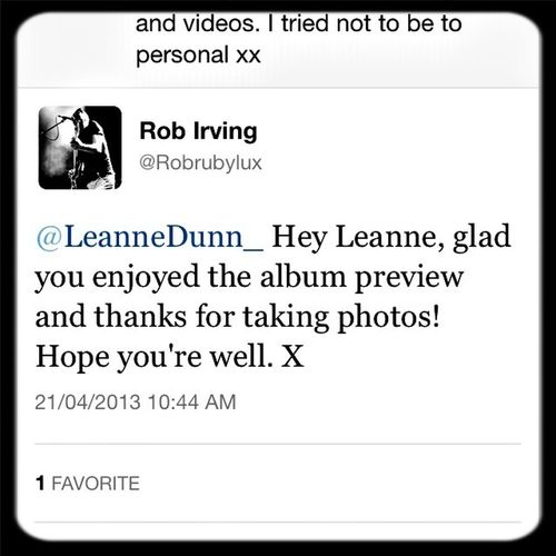 I love Rob from Rubylux. He always tweets me xx
