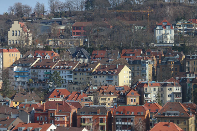 Houses on a hillside of Stuttgart Architecture Building Exterior Built Structure City Cityscape Day Hill Hillside House No People Outdoors Residential Building Roof Town Stories From The City The Architect - 2018 EyeEm Awards The Architect - 2018 EyeEm Awards