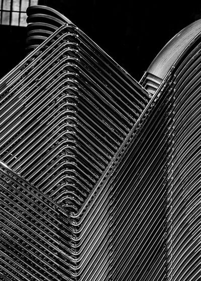 Abstract Abstract Photography Chairs Stacked Chairs Metal Chairs Lines And Patterns Lines And Design Window Black And White Black & White Black And White Photography Black & White Photography Nikon D3200