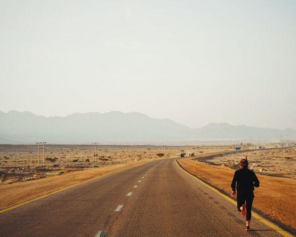 Let's go... Desert Fit Horizon Journey Road Roadtrip Run Runner Street Wellness Woman