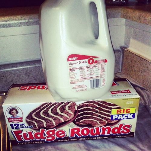 This What I'm On After My Shower Milk LittleDebbie FudgeRounds .