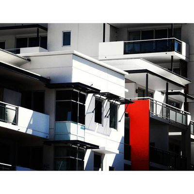 Red Stripe - East Perth Red White Black Whpfilltheframe perth perthlife perthcity perthisok westernaustralia australia minimal building architecture architectureporn travel