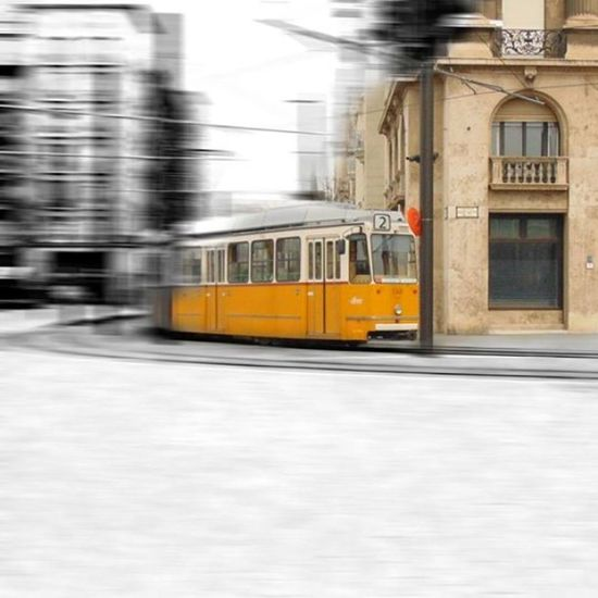 """from the """"past"""" to the future... Tramtrain 2line Kossuthter Budapest thisisbudapest"""