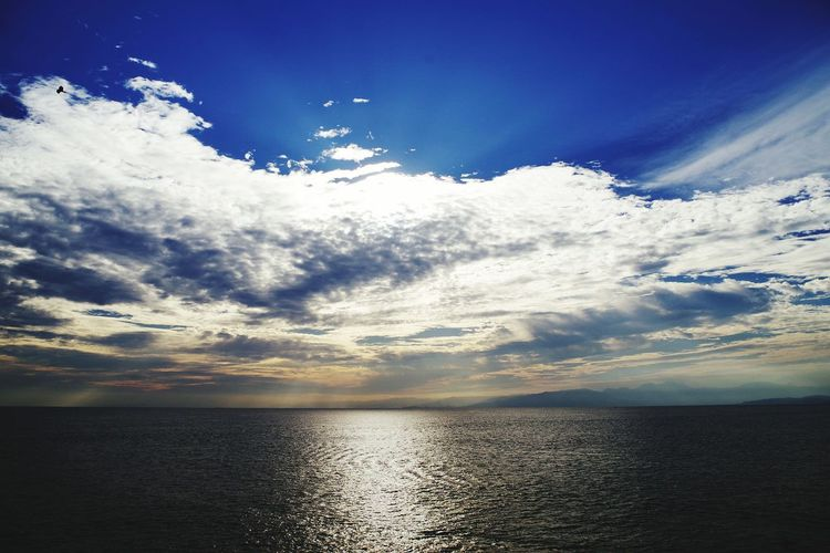 Linked sky Nature Cloud - Sky Beauty In Nature Sky Tranquility Scenics Blue Water Landscape Sunset Sea Outdoors Tranquil Scene No People Reflection Sunlight Day Horizon Over Water Mountain Enoshima Perspectives On Nature