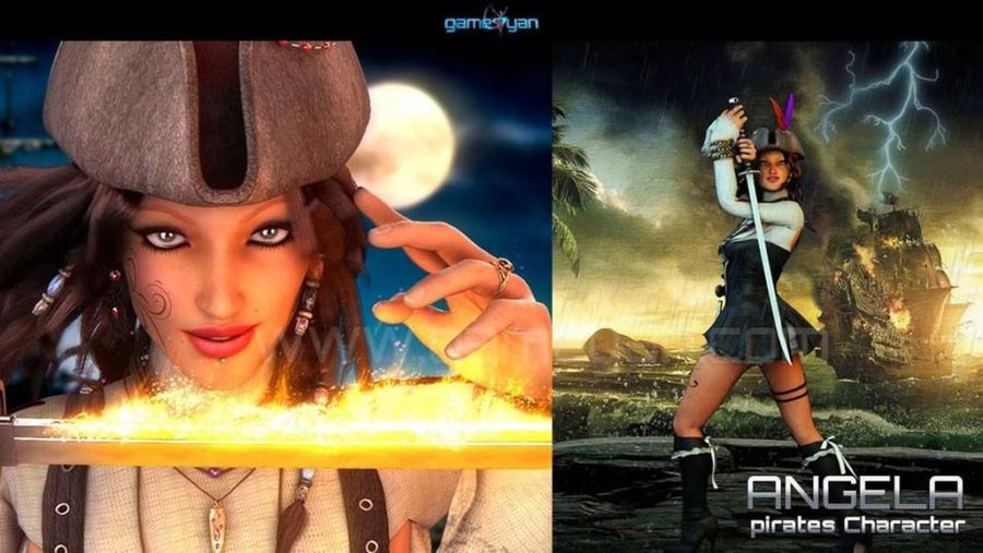 Create your 3D Angela Woman Pirates Character Rigging and Animation from Art Outsourcing Studio. HD quality Character design with ultra high VFX like fire and thunderstorm effects by GameYan Animation Studio. 3D Character Animator Animation Character Maker Cartoon Animation Companies Character Animation For Games Character Modeling And Rigging Character Riggers Animation Character Rigging