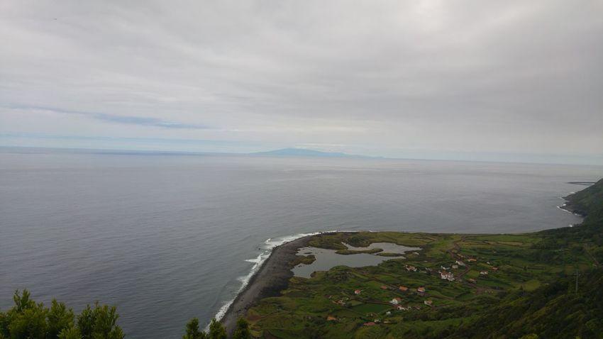 Sao Jorge Island Pico Island Overview Faja Ouvidor Azores Islands Ocean View Small Village