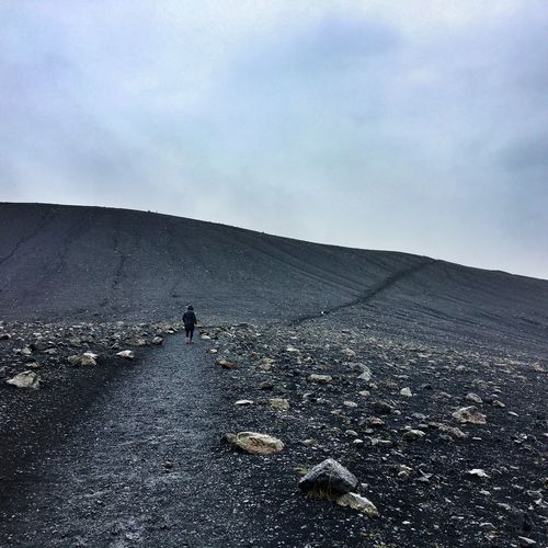 Volcano In Space Moon Walking Exploring Nature Icelandic Nature Black Ground