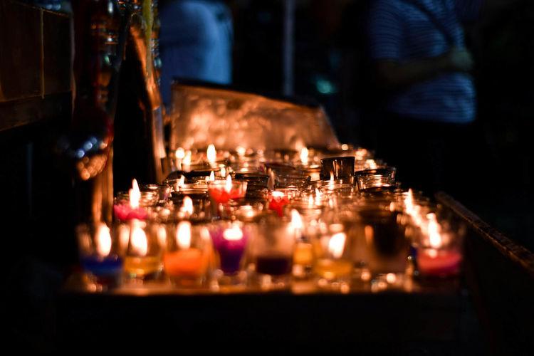 Fire Night Burning Bar - Drink Establishment Glass Candle Dark Nightlife Glass - Material Fire - Natural Phenomenon Illuminated