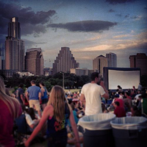 Datenight Downtown w/ @trophyboutique . Is it possible to have a good view AND bad seats? Do512 Alamodrafthouse