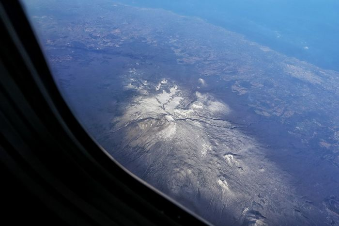 Korea Photos Birdview Mountain View Above The Clouds Halla Mountain Jeju JEJU ISLAND  Silent Volcano Carter Snow Covered Mountains Travel Nature From An Airplane Window Dormant Volcano Crater Streamzoofamily
