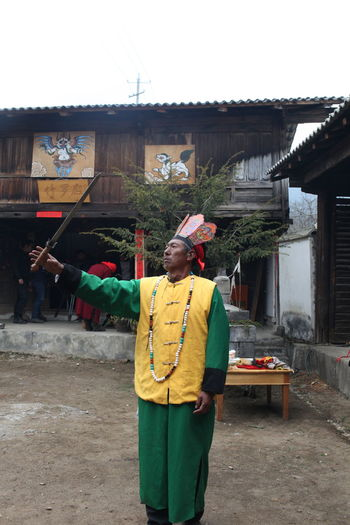 Old Flamen with a Sword Traditional Clothing Traditional Culture Religion And Tradition Men