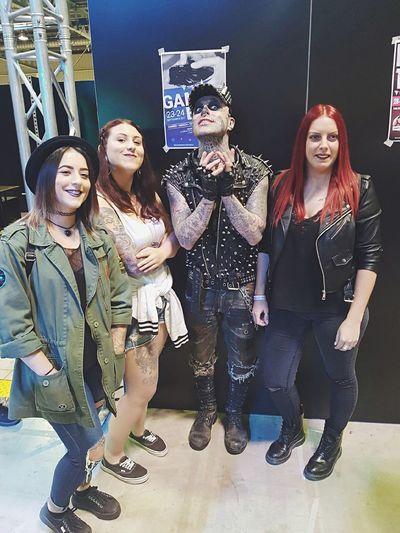 The Storm-International Tattoo convention with Rick Genest. Rickgenest Zombieboy 😍