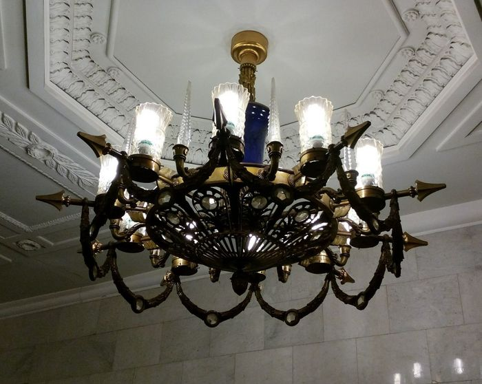 Saint-Petersburg Avtovo Subway Lamp Interior Design Light And Shadow