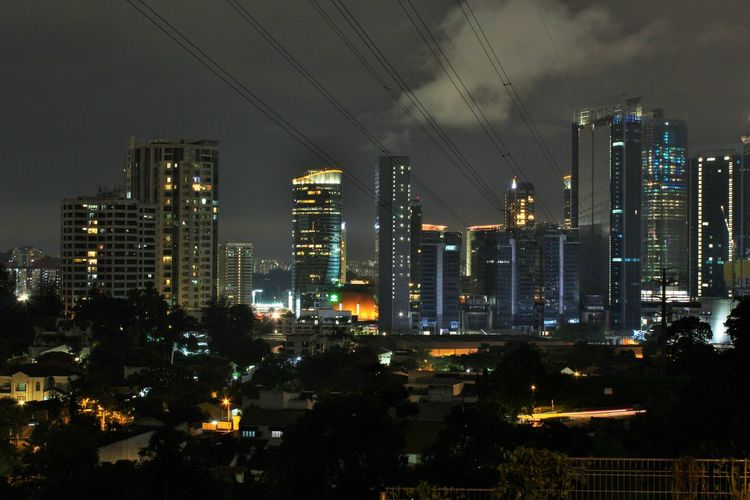 Architecture Building Exterior Built Structure City Cityscape Electricity  Illuminated Midvalley Midvalleygarden Modern Night No People Outdoors Sky Skyscraper Tall Travel Destinations Tree Urban Skyline