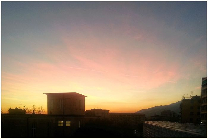 Pastel Colors Sunset City No People Built Structure Building Exterior Architecture Sky Outdoors Day Shillouette Note 2 Smartphone Photography Camera Zoom FX Beauty In Nature
