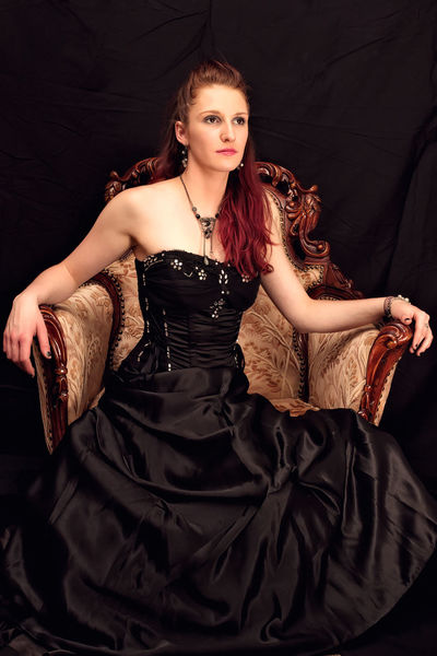 Alison in black dress... From a photo shoot in Czech Republic, September 2017 Elegant Elégance Formal Portrait Antique Furniture Beautiful Woman Beauty Black Background Black Color Evening Gown Fashion Fashion Model Formalwear Glamour Indoors  Lifestyles Looking At Camera Model One Person Portrait Red Hair Studio Shot