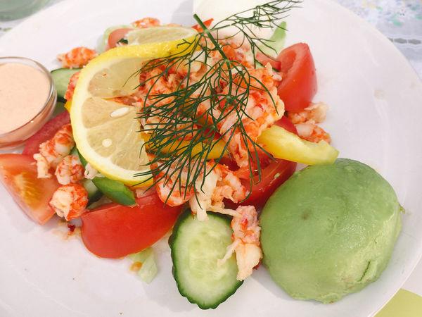 Swedish Food Scandinavian Food Nordic Shrimp Salad Prawn Shrimps Salad Food