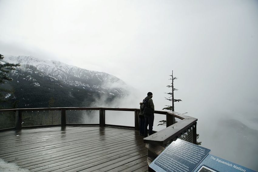 Squamish, BC, Canada Sea To Sky Gondola Fog Deck With Fog Vancuver Sea To Sky Canada Fog Travel