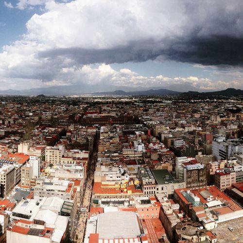 Cd. México Mexico City Torre Latinoaméricana  Zócalo Hello World Enjoying Life Panoramic Sky Blue