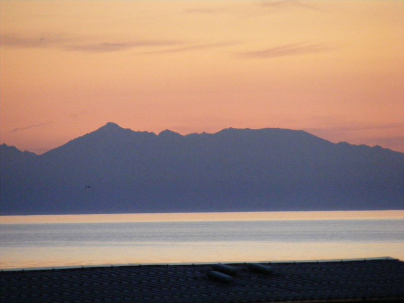 Arran  Ayrshire Beauty In Nature Isle Of Arran  Mountain Mountain Range Nature Orange Color Scenics Scotland Silhouette Sky Sunset Tranquil Scene Tranquility Water