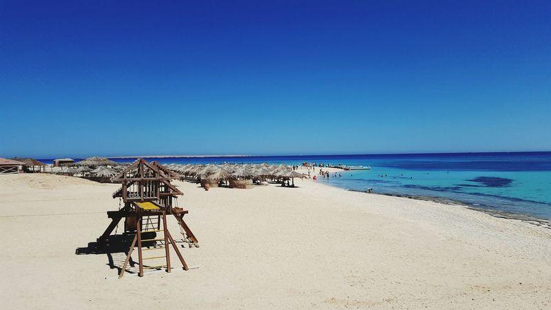 Egypt Ägypten  Red Sea Ägypten Red Sea Hurghada Paradise Beach Strand Giftun Island Beach Meer Sea Sea And Sky