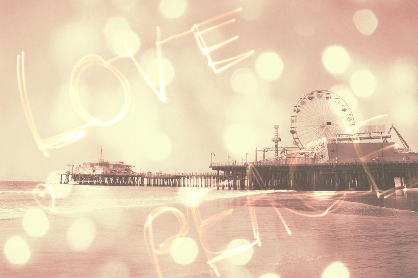 Santa Monica Pier digital art effects by Christine aka stine1 #stopimagetheft Santa Monica Pier Digital Art Digital Art Photo Digital Artist Digital Artwork No People Stop Image Theft