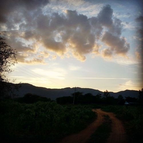 Afterburn Ithink Evening Sunset somewhere in Kenya farmer view nature beauty nokia1020 lumia1020 pixel gravel drive