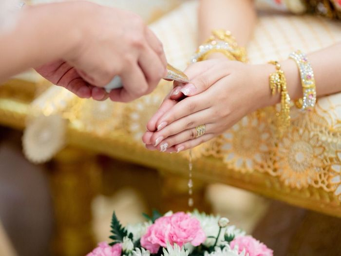 Thailand married culture Human Hand Human Body Part Hand Jewelry Women Adult Celebration Midsection Wedding Holding Flowering Plant Focus On Foreground Bracelet Religion Wedding Ceremony Ring Indoors  Flower Close-up Nail
