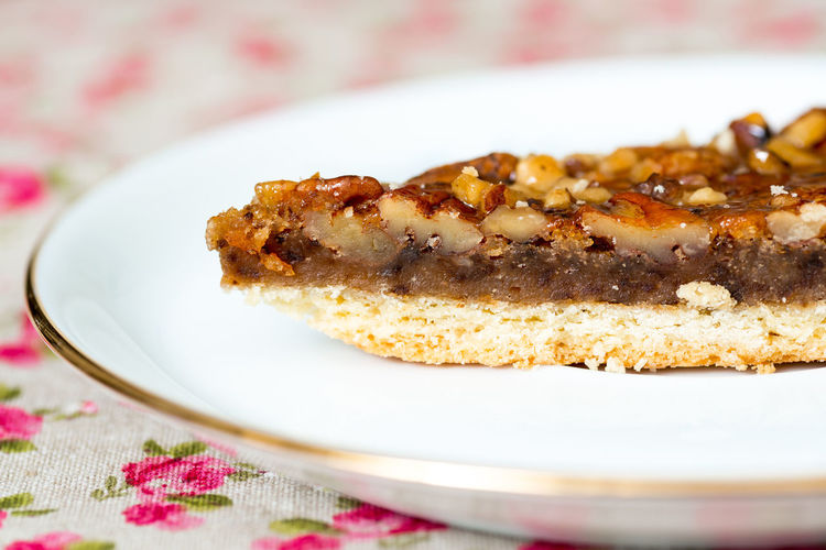 Close-Up Of Sweet Pie In Plate