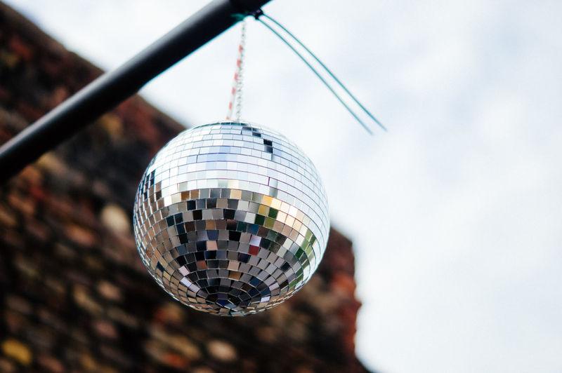 Disco ball hanging outdoor