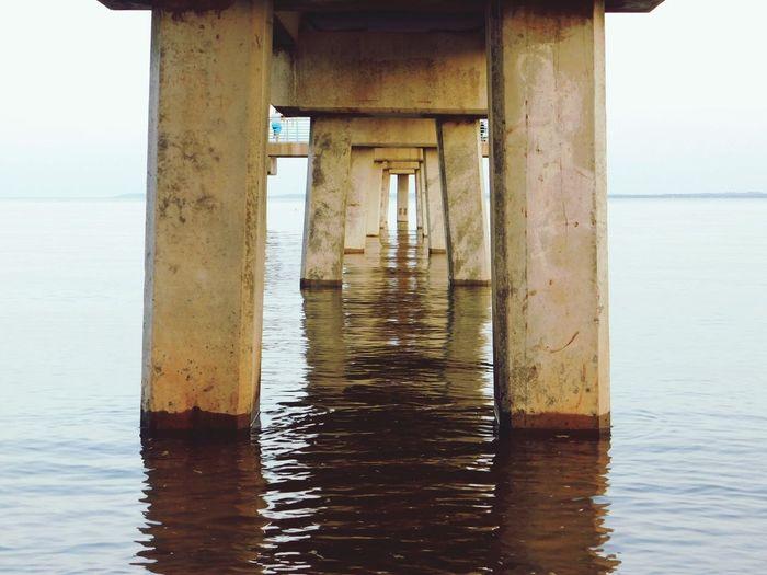 Sea Underneath Architecture Water Pier Built Structure Beach