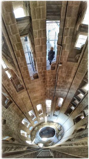 Gaaanz tief nach unten Sacrada Familia Barcelona Lookingdown Barcelonalove Built Structure Architecture