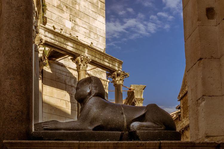 Sculpture Statue Representation Architecture Human Representation Art And Craft Built Structure Male Likeness History Sky No People The Past Low Angle View Nature Travel Destinations Creativity Travel Building Exterior Day Religion Architectural Column Sphinx