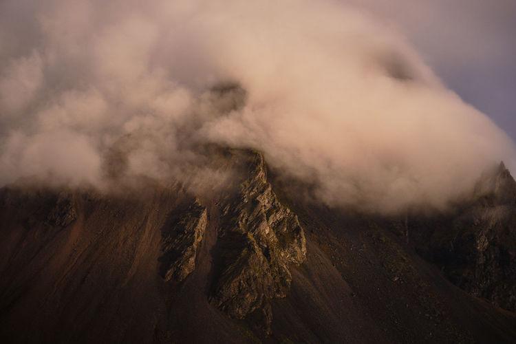 Smoke emitting from mountain